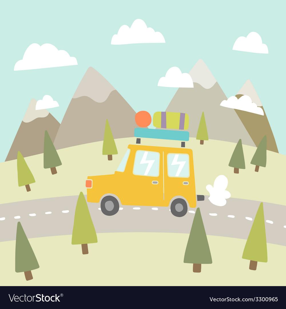Road trip Mountain landscape