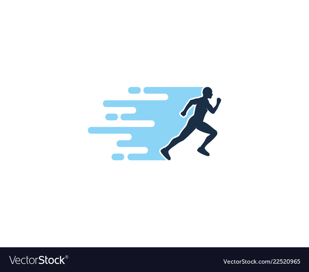 Speed run logo icon design