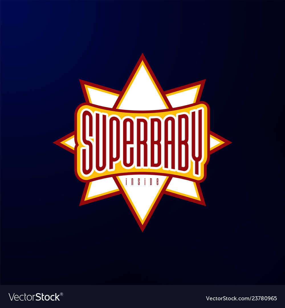 Sport emblem typography super bahero logotype