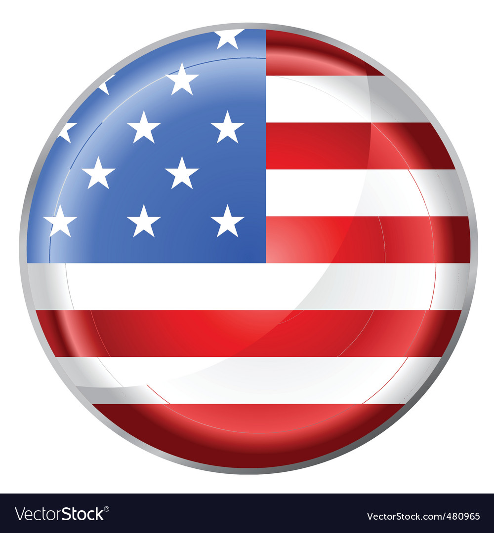 usa flag button royalty free vector image vectorstock