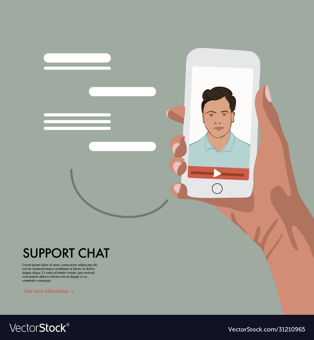 Video chat with online assistant virtual