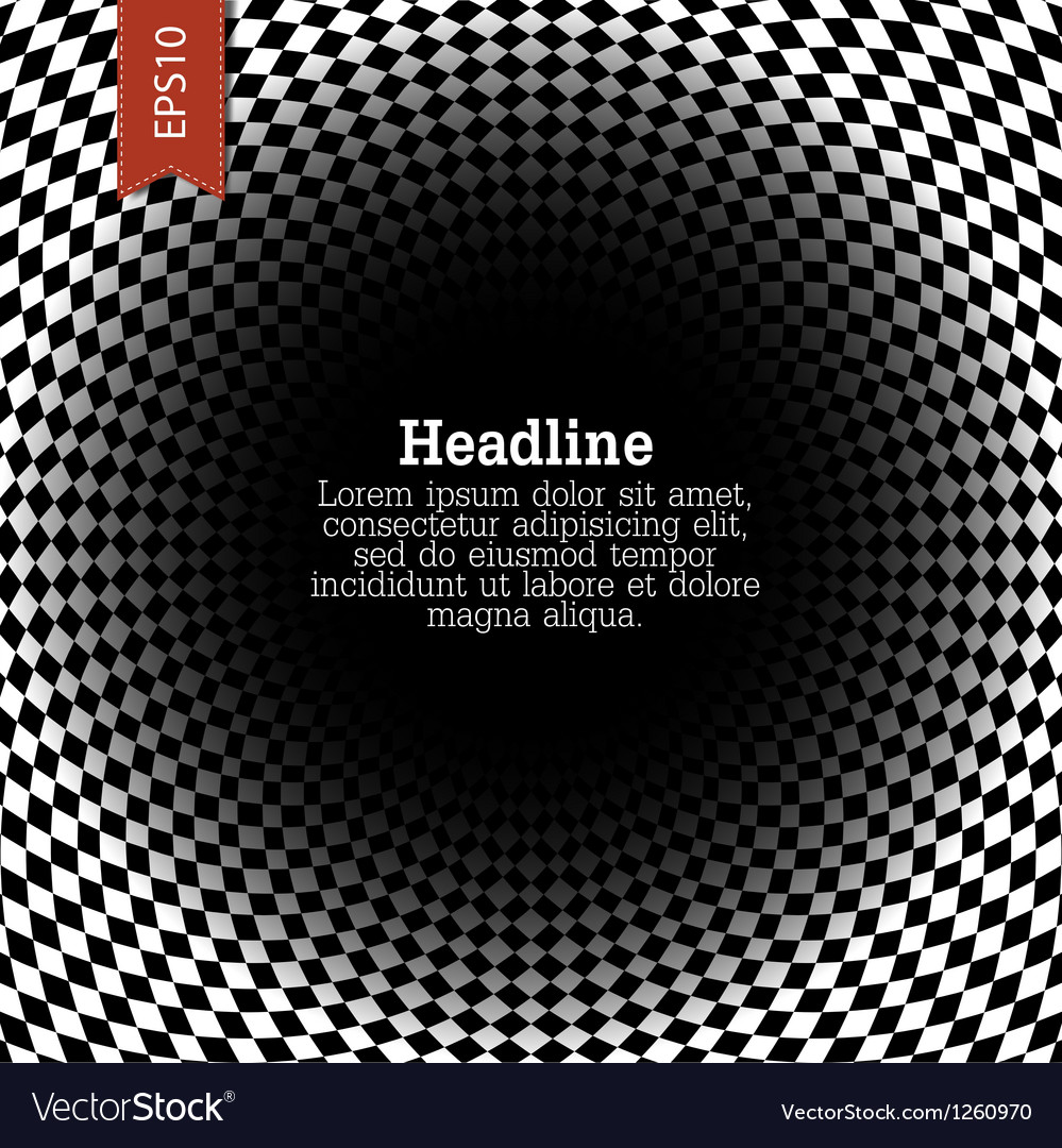 Abstract checkered and rounded background vector image
