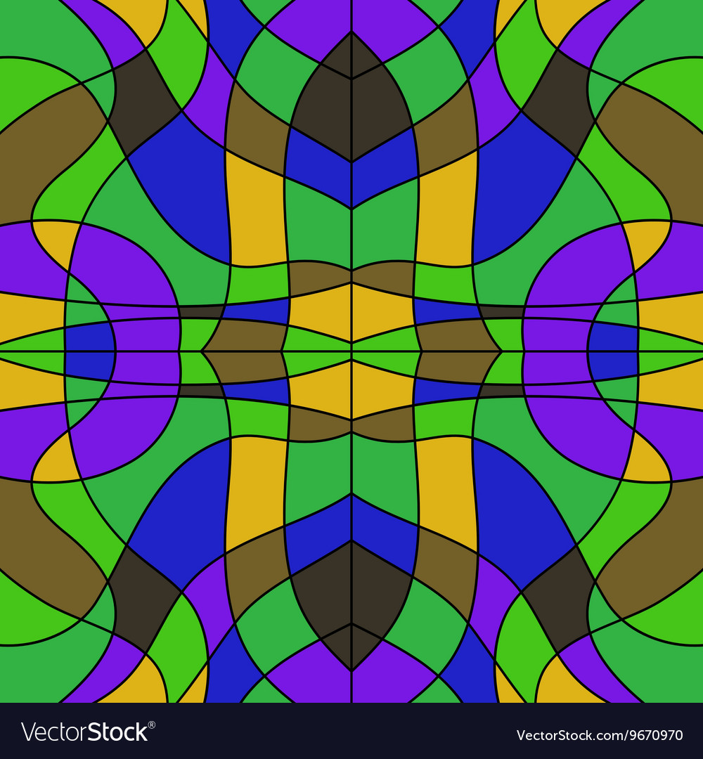 Abstract Colored Stained Glass Background Mosaic