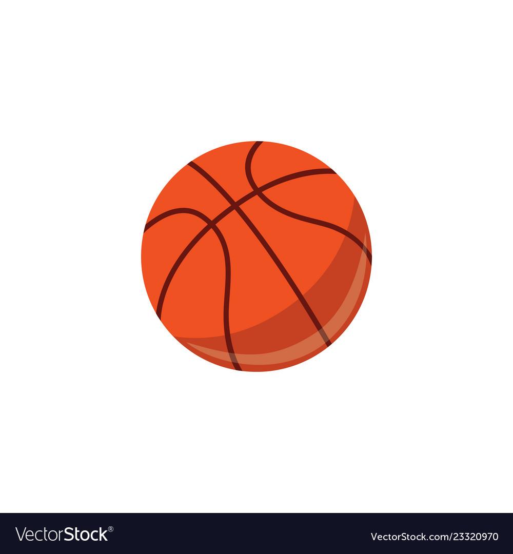 Basketball ball sport equipment simple icon