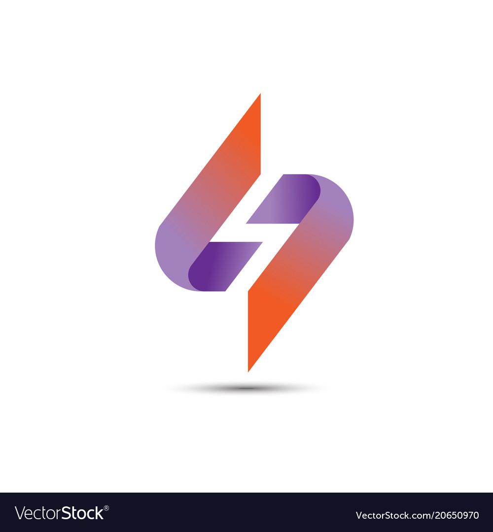 Best s logo letter rainbow