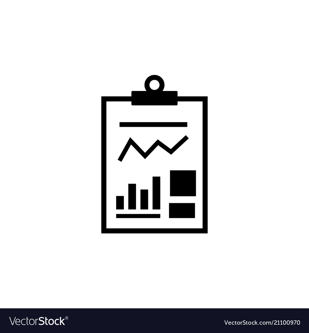 Business report financial document flat