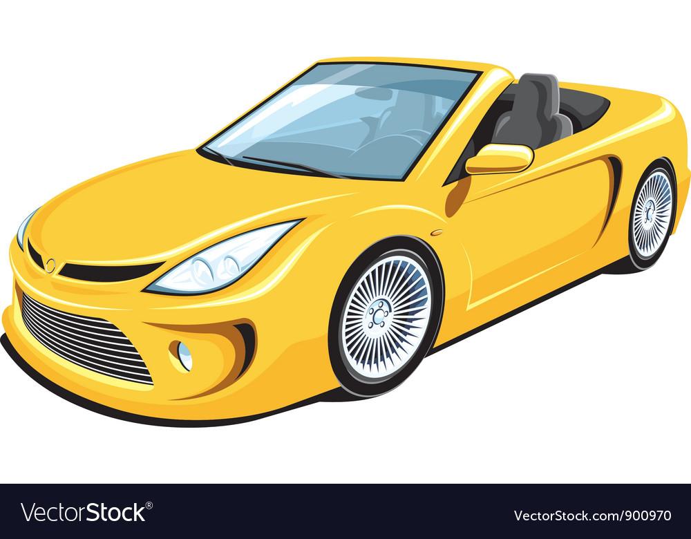 Convertible car vector image