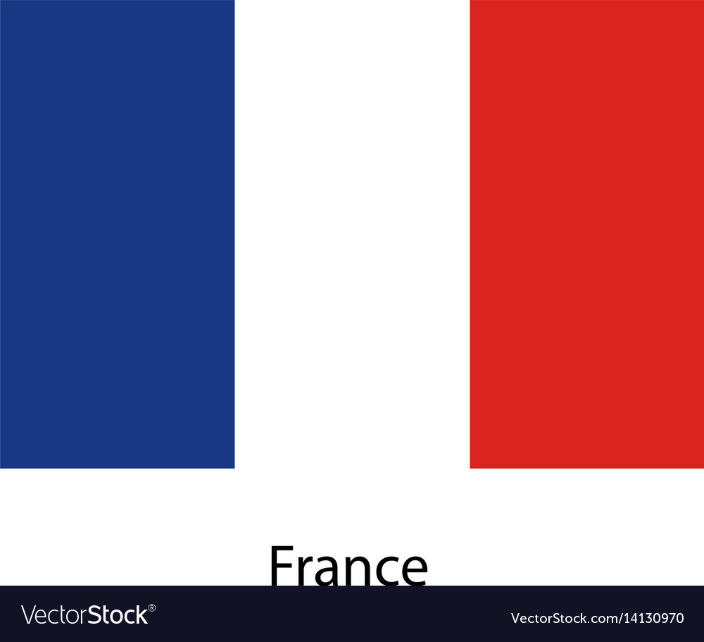 France flag official colors and proportion