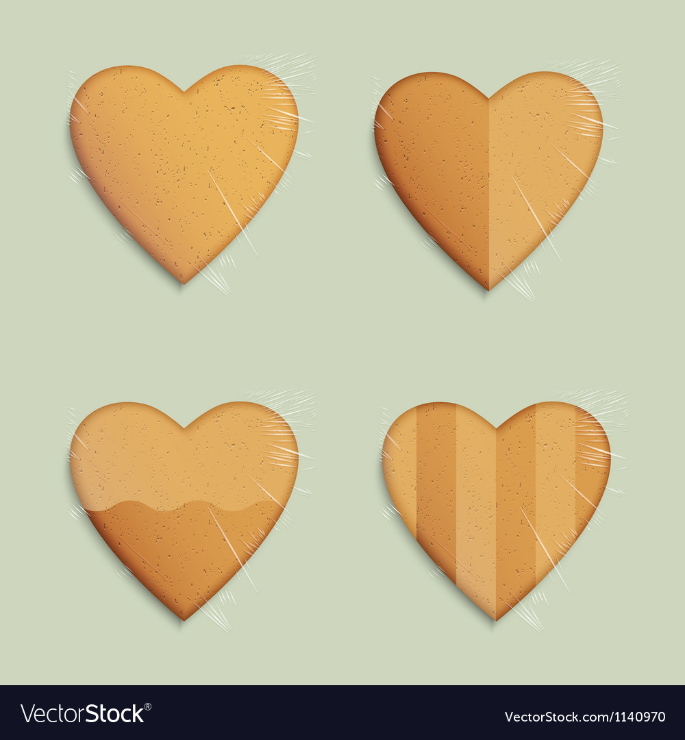 hearts shapes cookies royalty free vector image