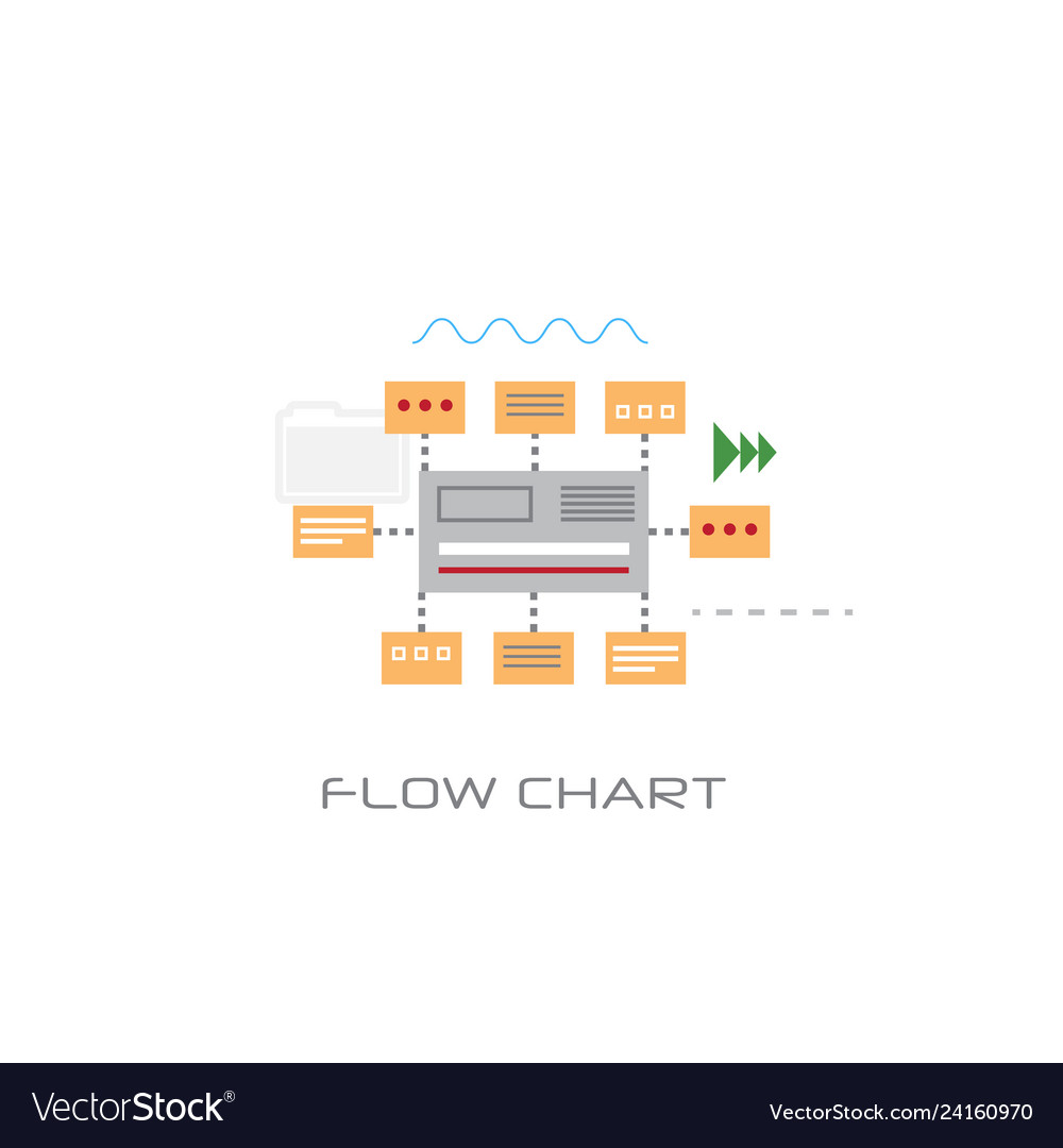 Infographic organization data flow chart concept