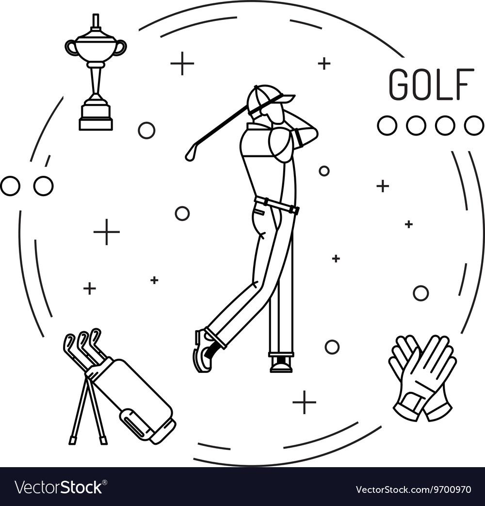 Playing game golf