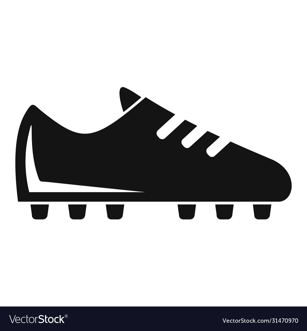 Soccer boot icon simple style