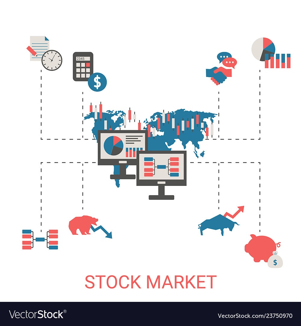 Stock market concept stock market concept