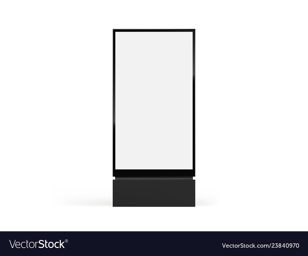 Totem light box mockup city format billboard