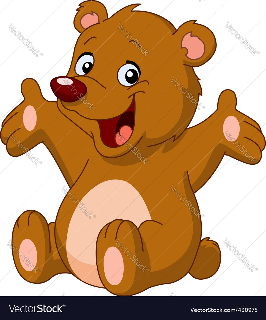 Cartoon teddy bear Royalty Free Vector Image - VectorStock