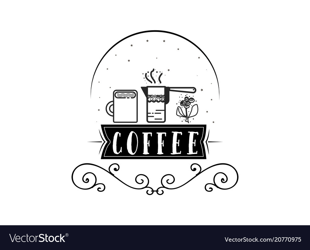 Coffee hipster vintage stylized lettering badge