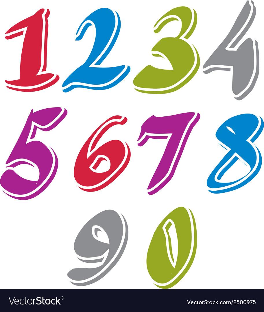 Contemporary handwritten digits numerals