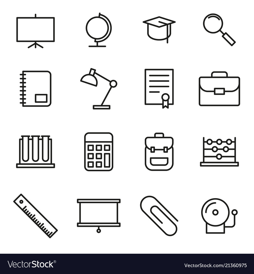 Education school icon set
