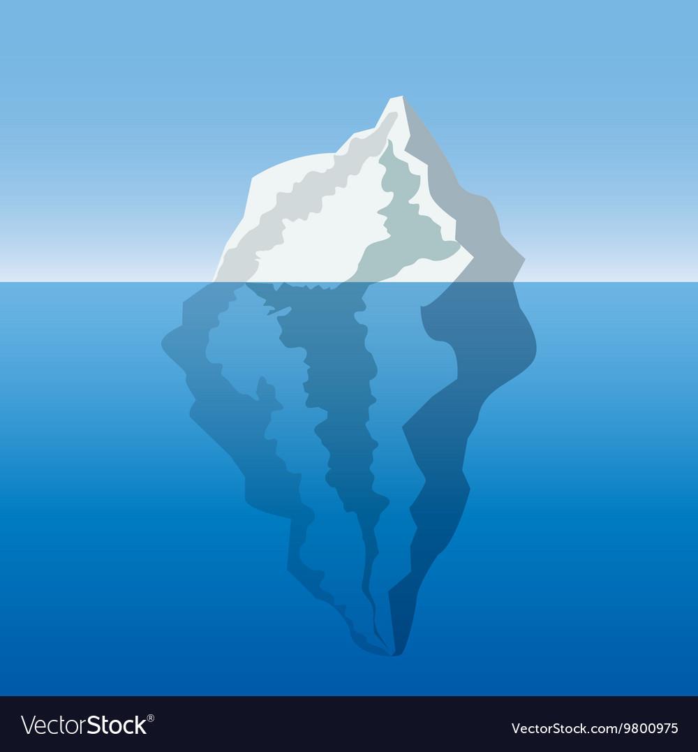 Iceberg in the ocean