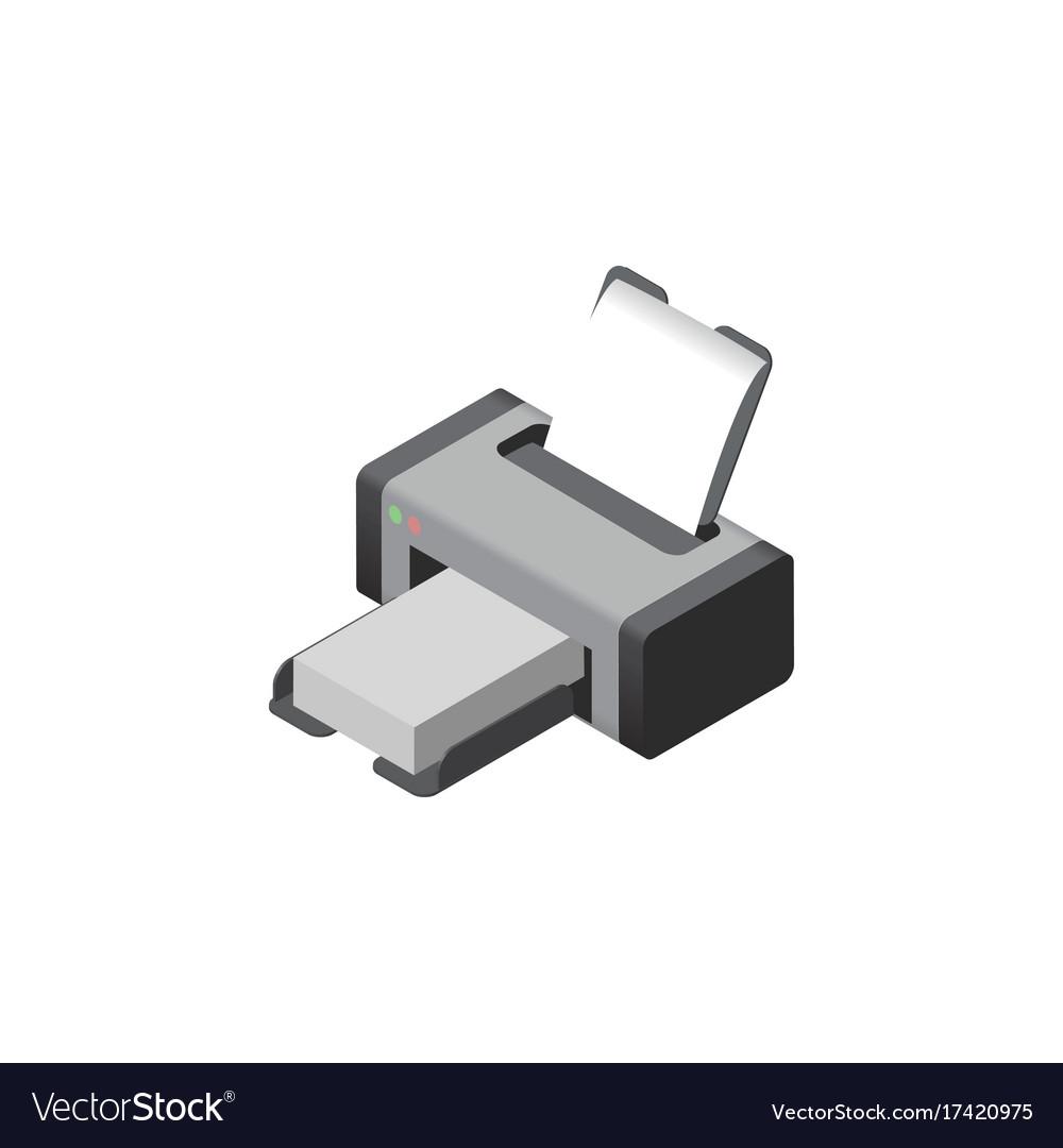Isolated printer isometric printing machine