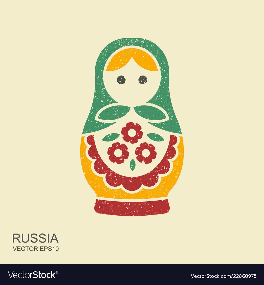 Russian traditional doll souvenir - matryoshka