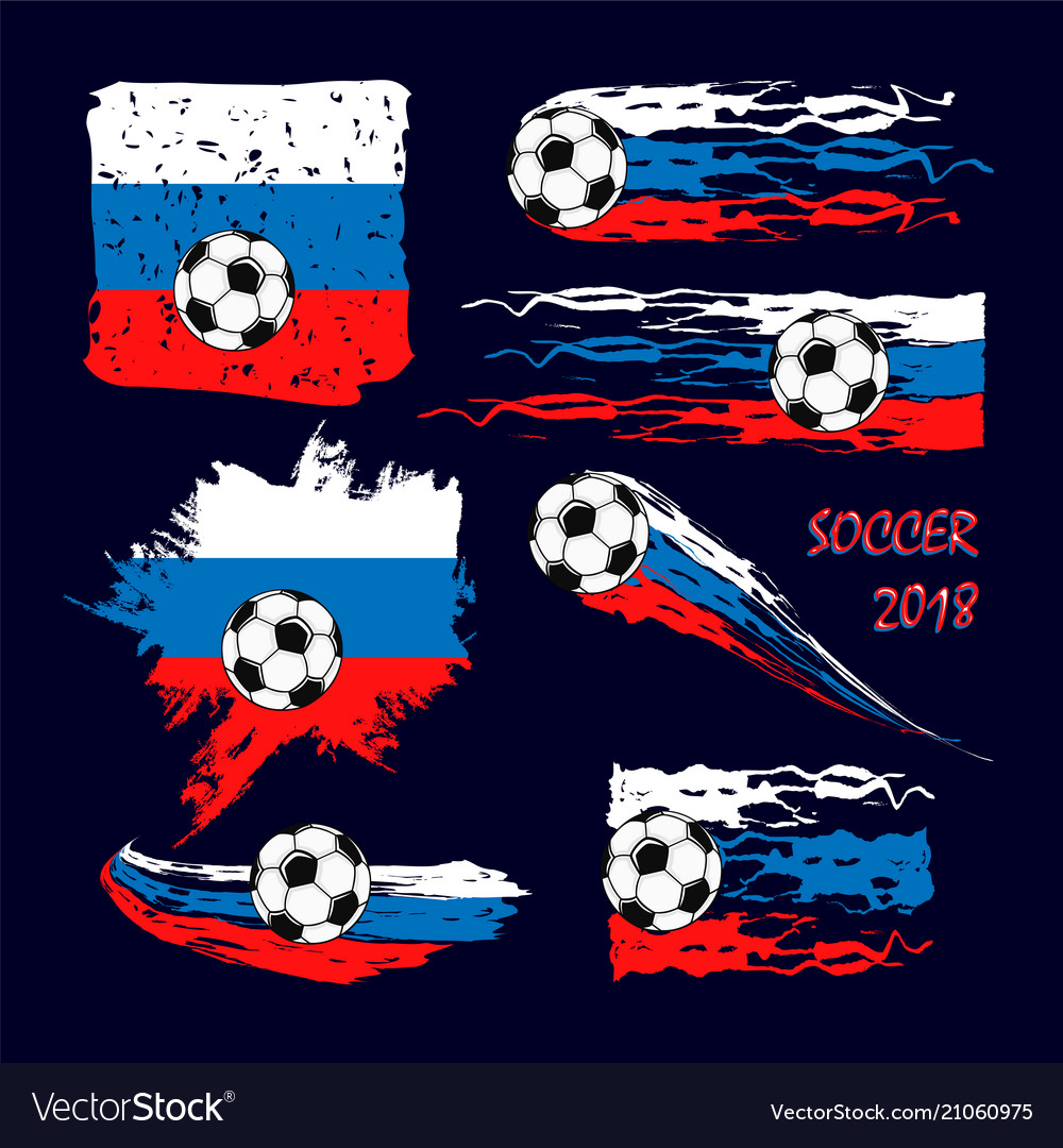 Soccer championship 2018 abstract backgrounds