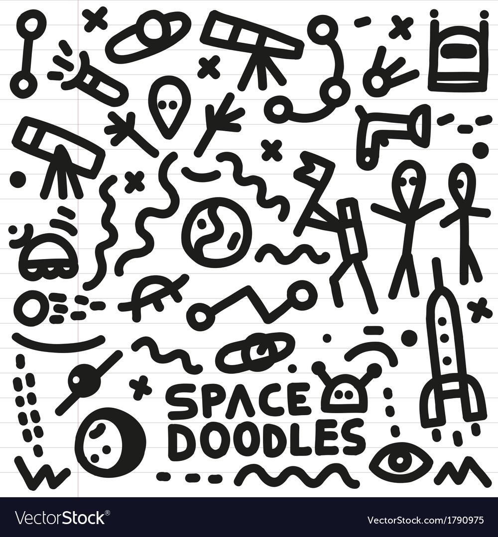 Space - doodles set