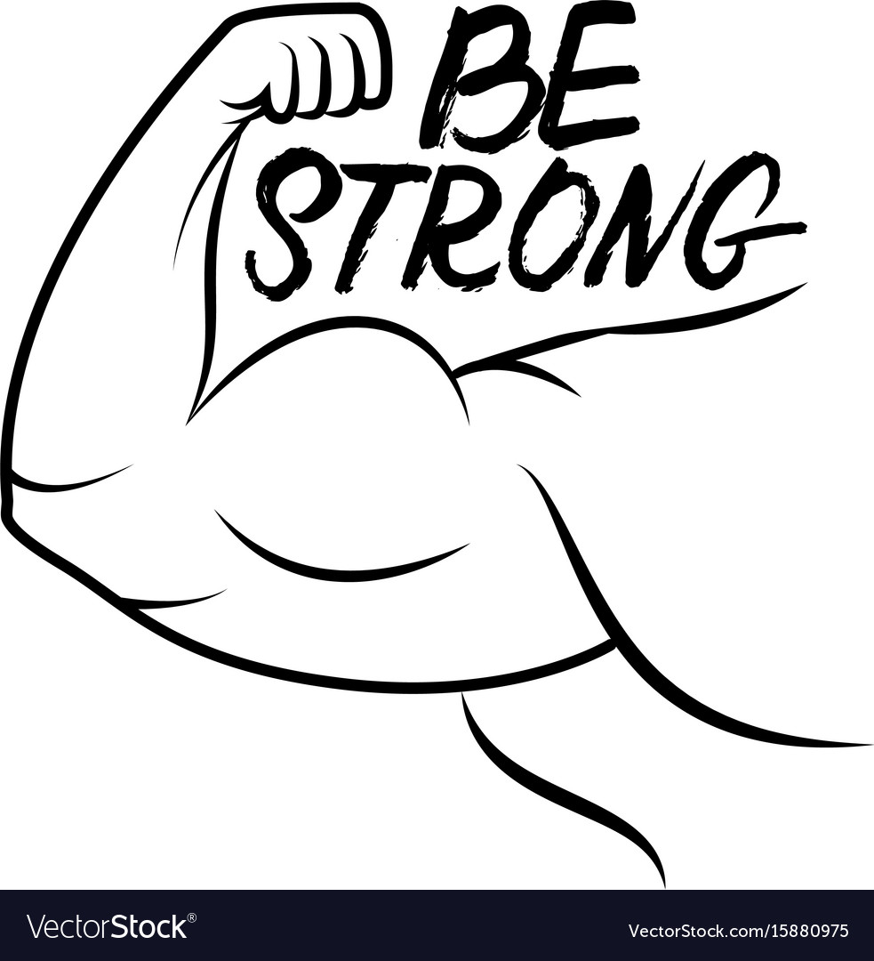 Strong arm icon vector image