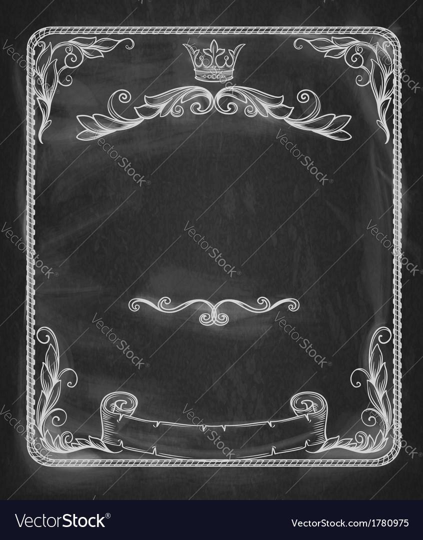 Vintage bannerBackground chalkboard vector image