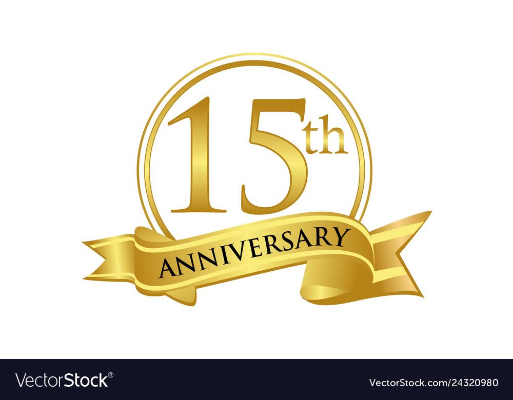 15th anniversary celebration logo