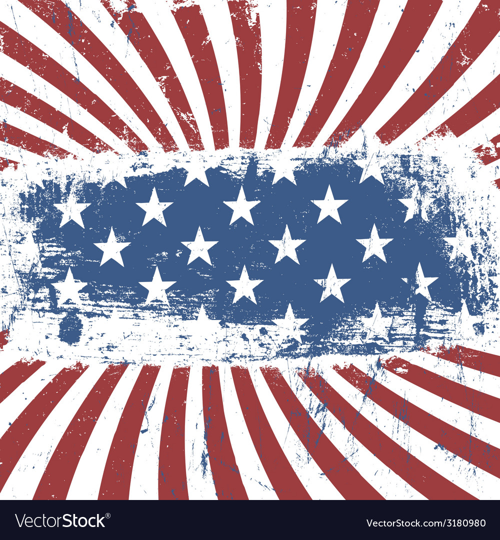 American flag background vintage abstract