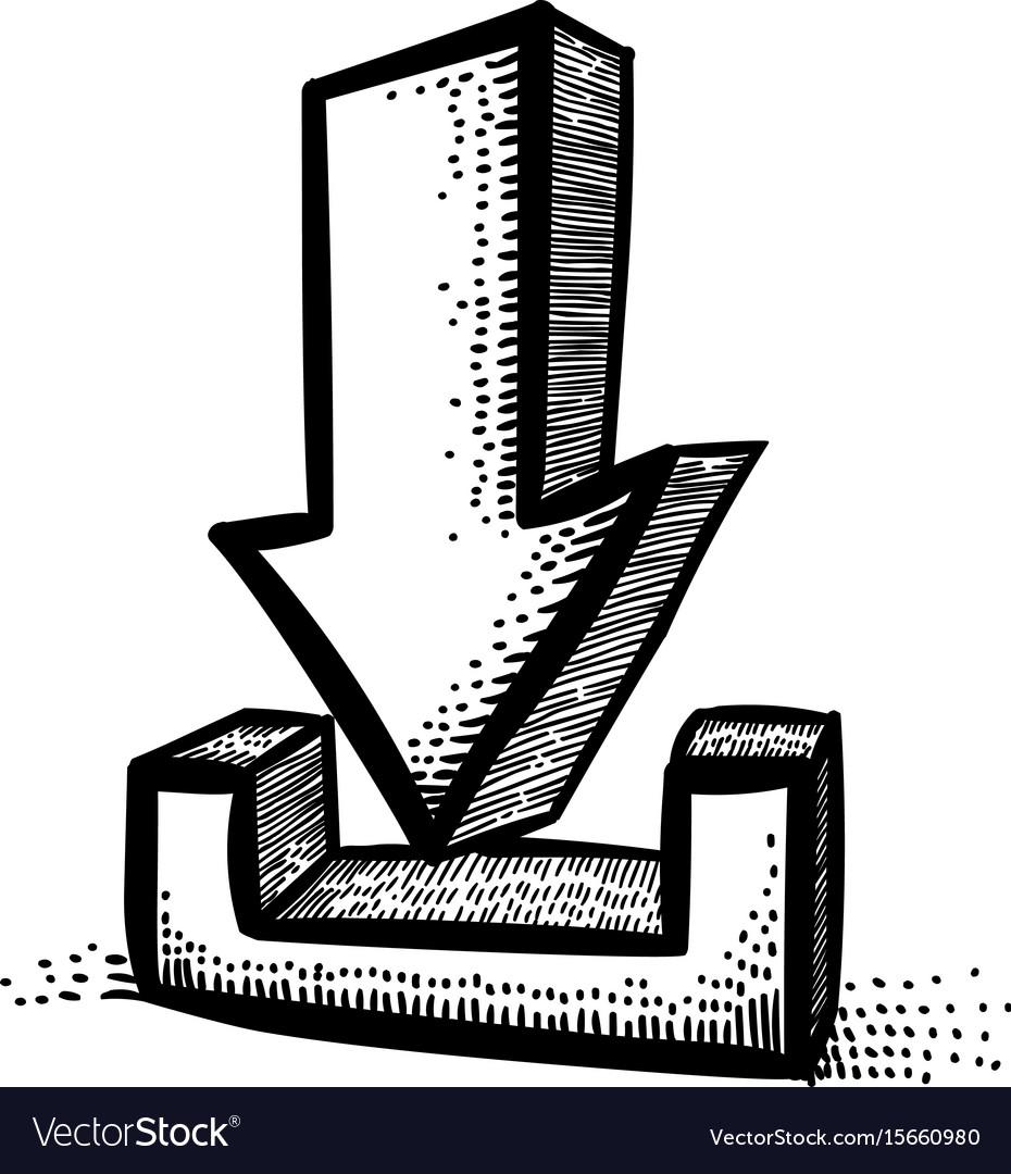 cartoon image of torrent icon arrow symbol vector image rh vectorstock com Vector Art Torrents Muscle Car Vector Torrent