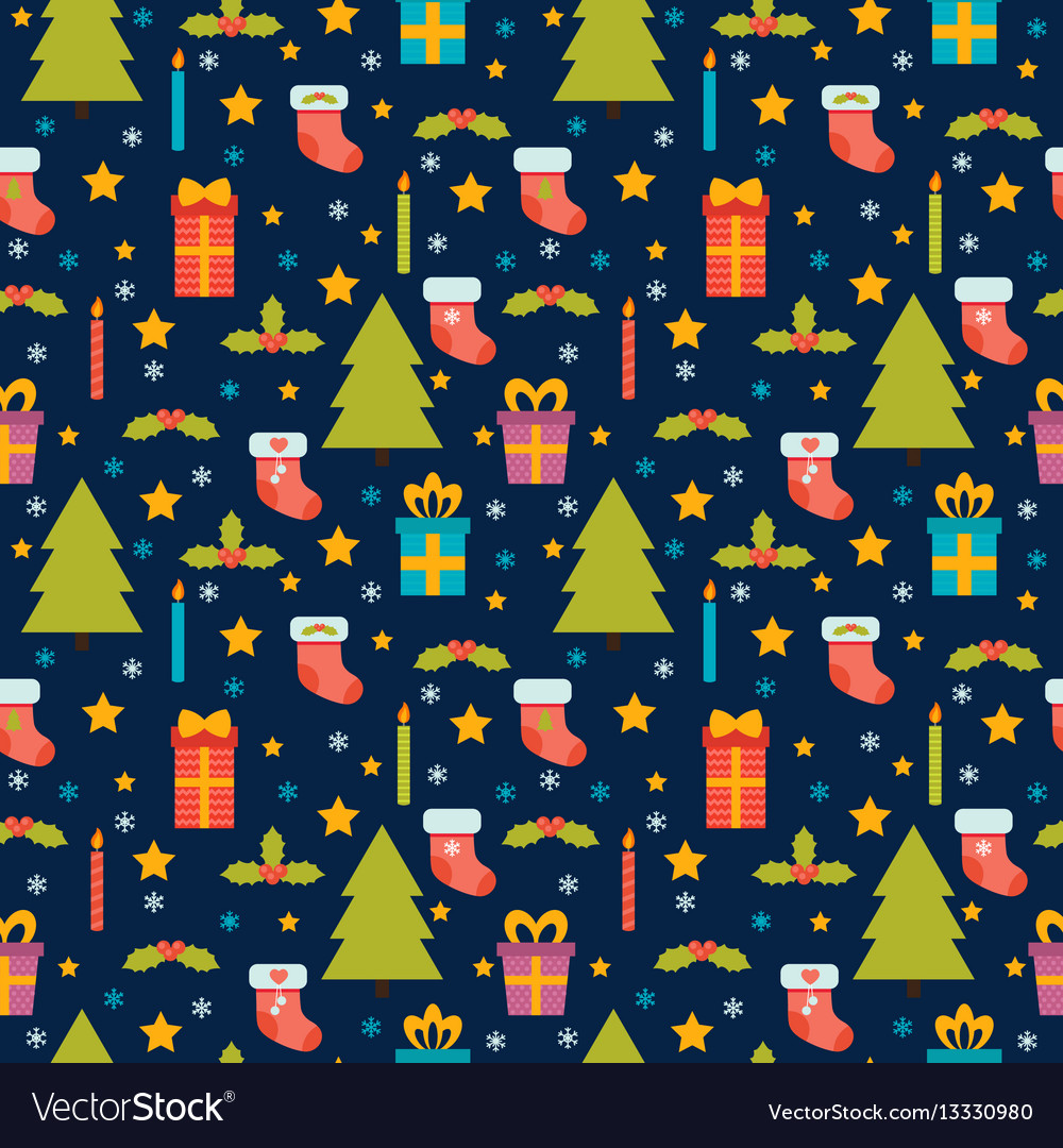 Cute seamless pattern holidays background with