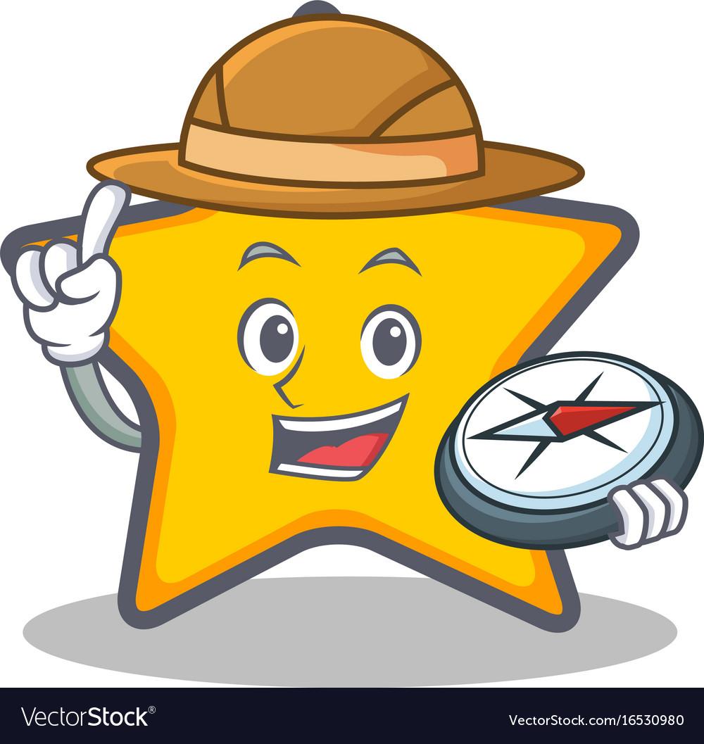 Explorer star character cartoon style