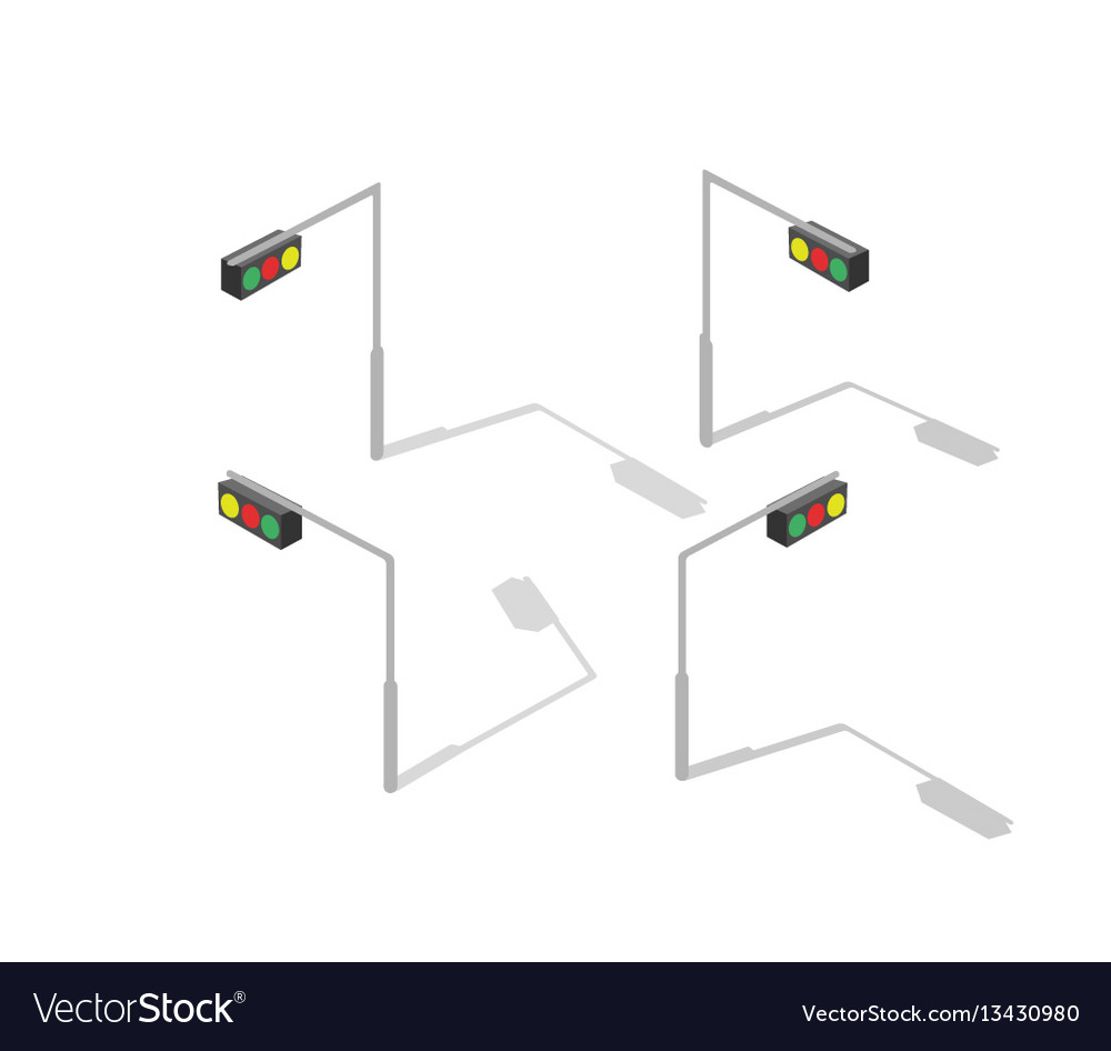 Isometric Traffic Regulation Vector Images 48 Light Ladder Diagram
