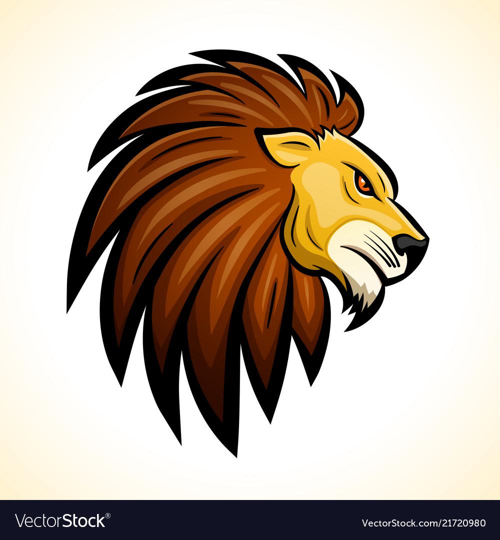 Lion head mascot concept