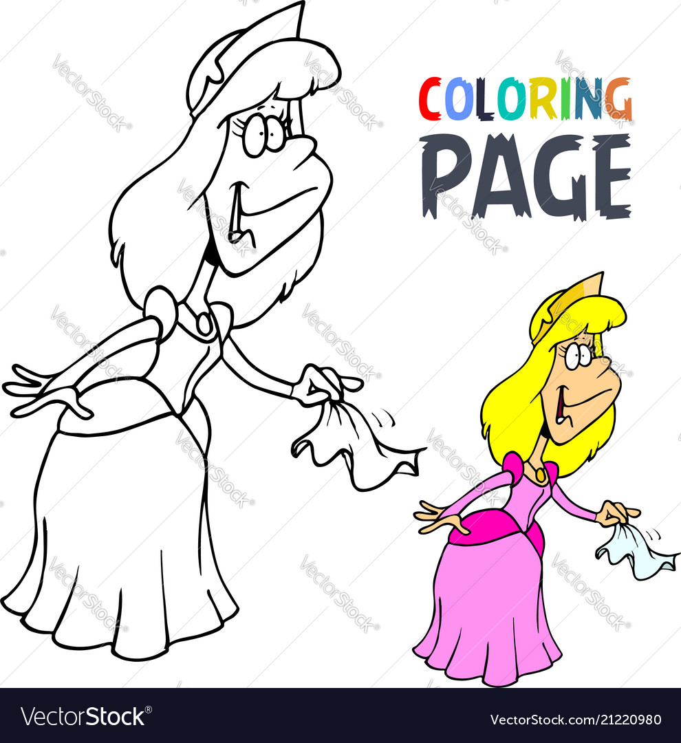 Princess cartoon coloring page