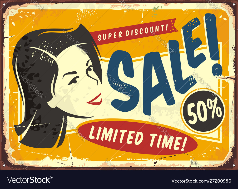 Sale discount offer promo poster design