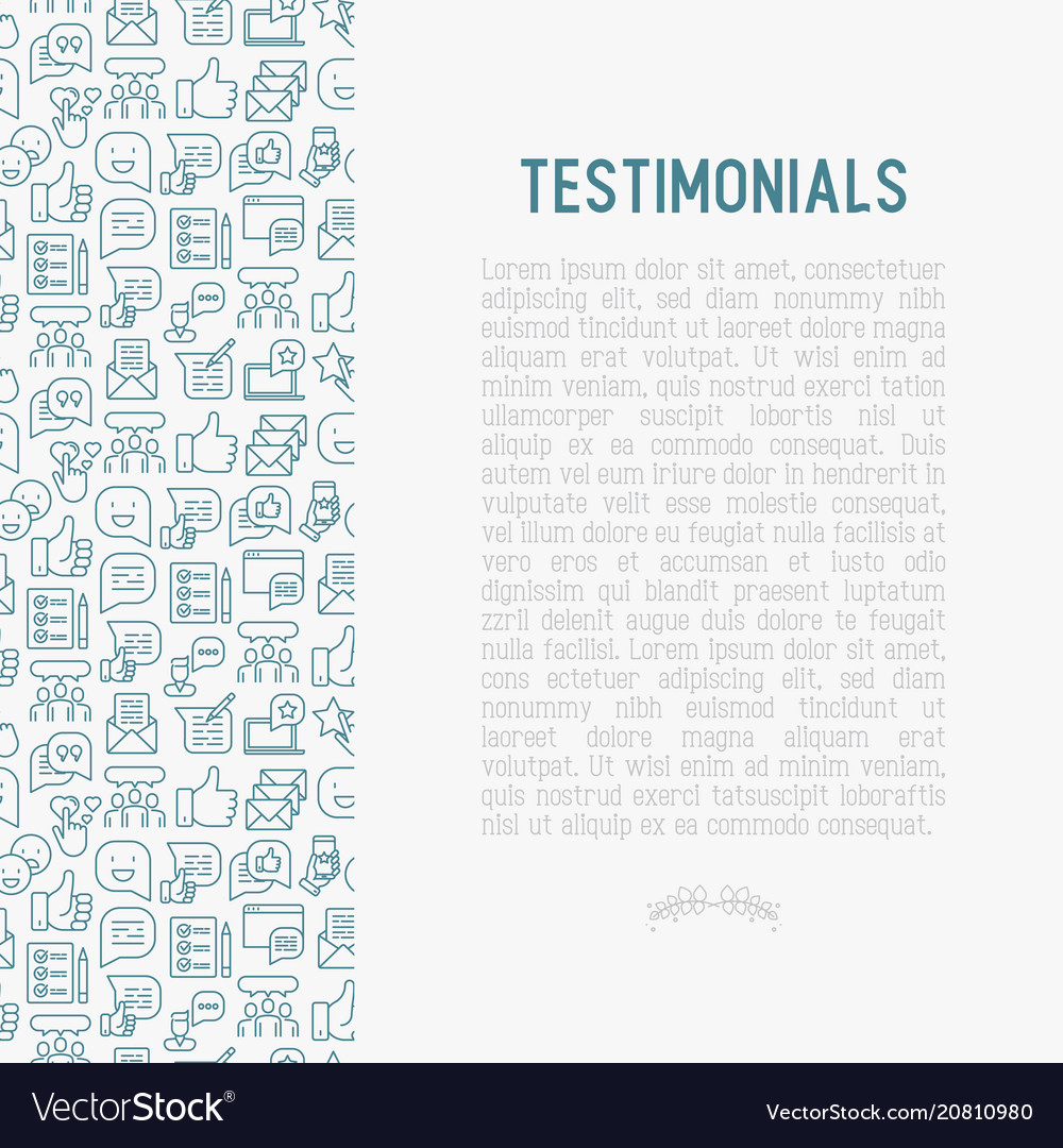 Testimonials and quote concept
