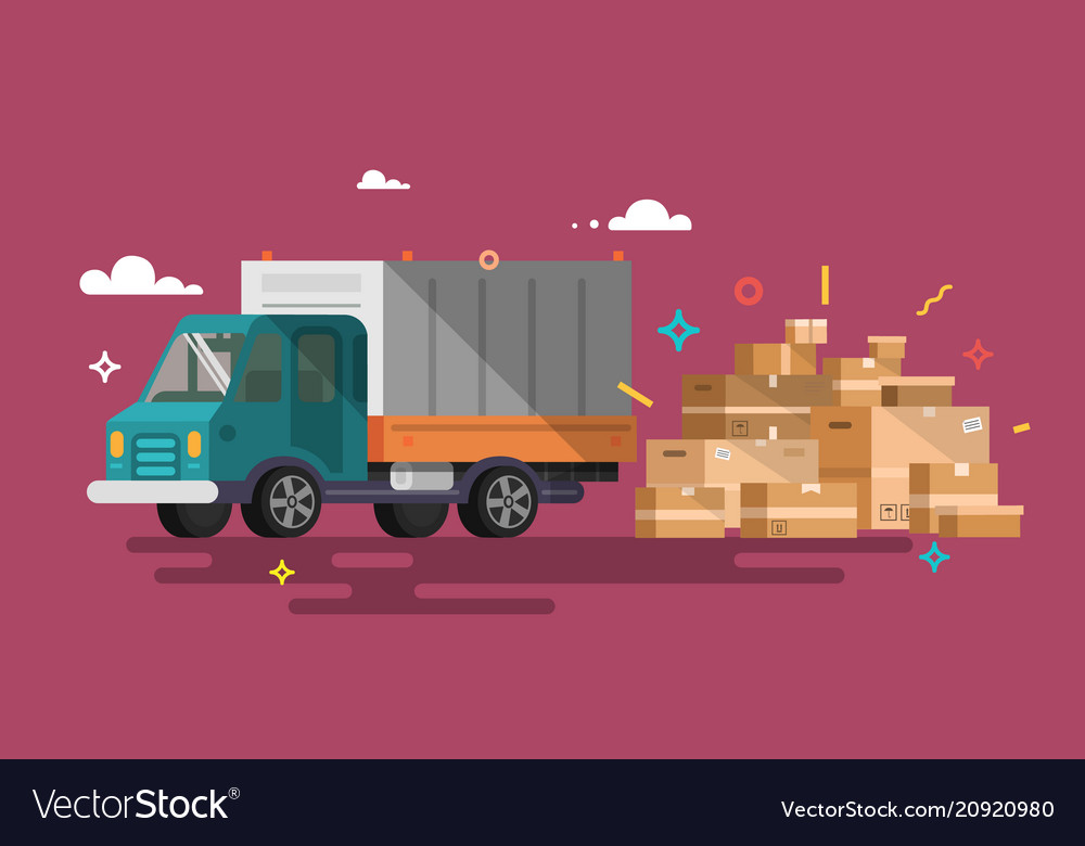 Truck shipping cargo delivery