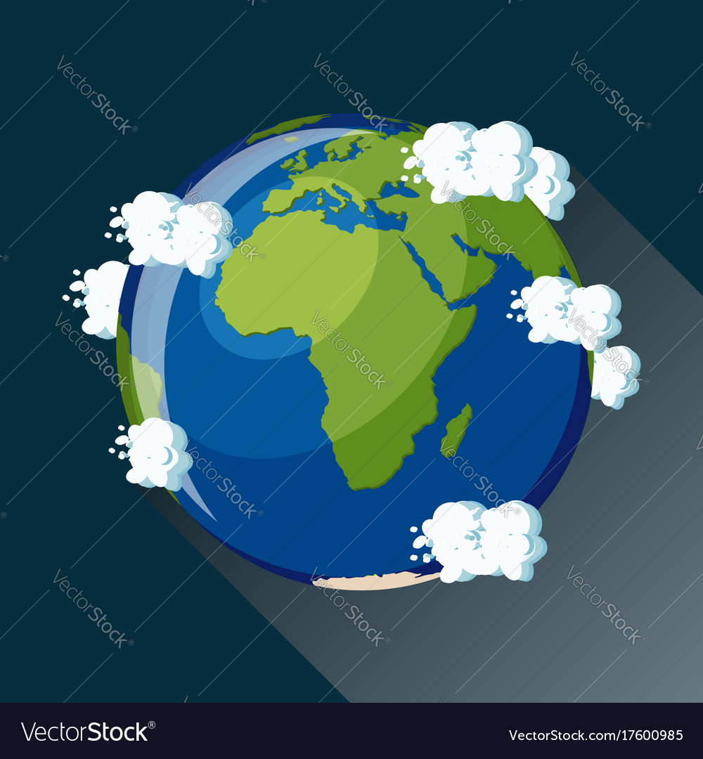 africa map on planet earth view from space vector image
