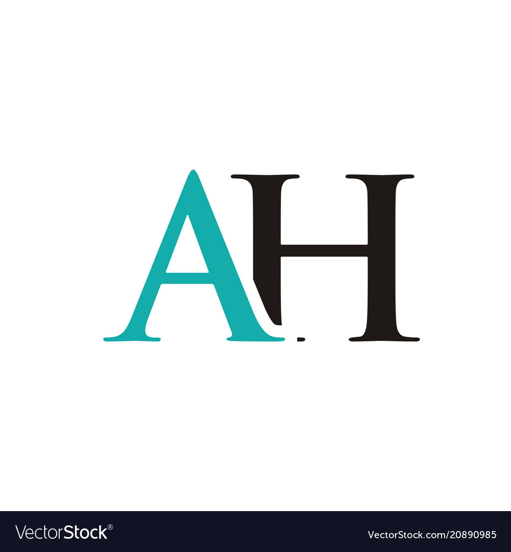 Ah Initials Letter Logo Royalty Free Vector Image