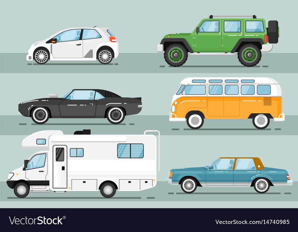 City auto vehicle isolated set