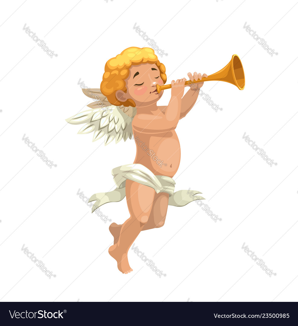 Cupid with pipe valentines day greeting card