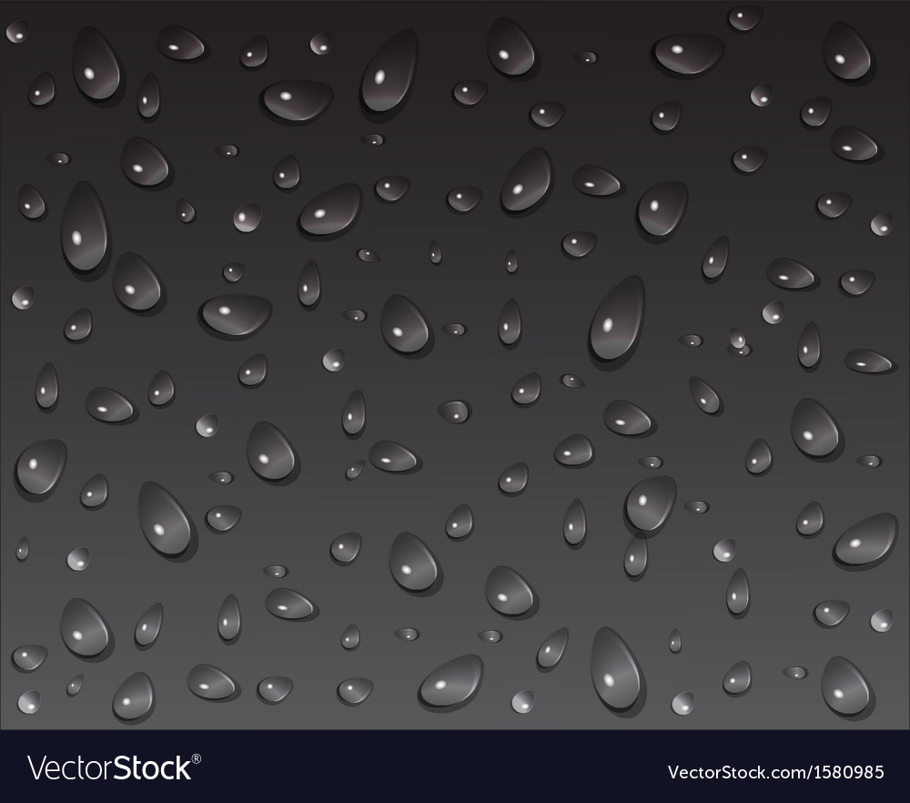 Drops on a dark background