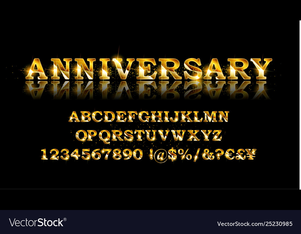 Gold deal alphabet and font