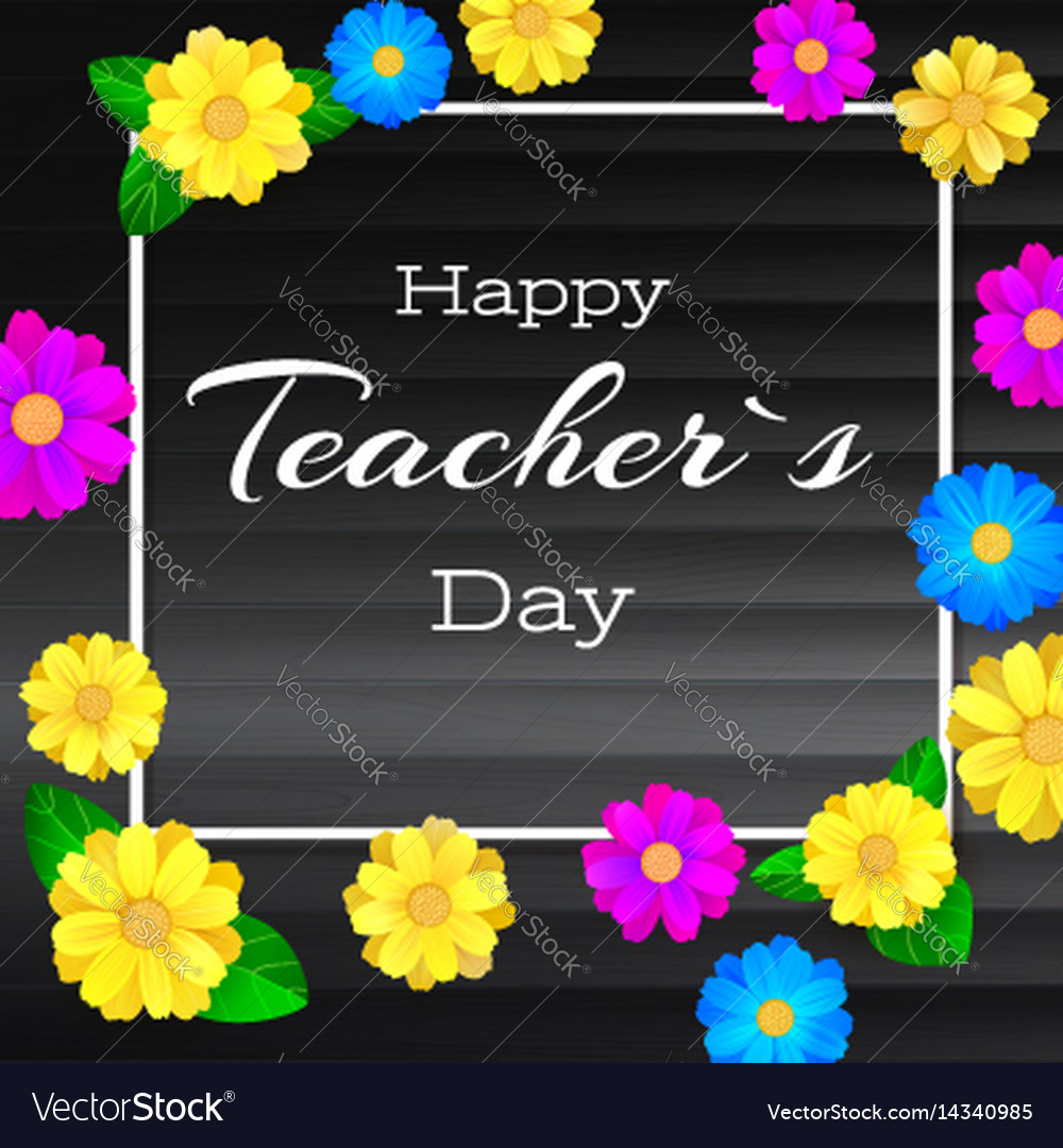 Happy teacher day greeting banner for your vector image m4hsunfo