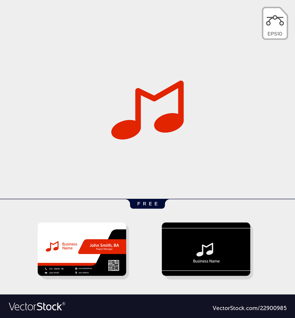 Initial M Music Logo Template And Vector Image