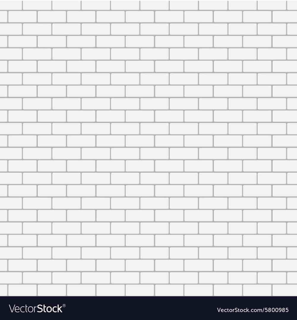 Modern seamless white brick background Royalty Free Vector