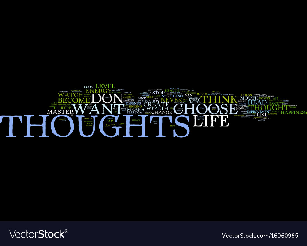 Your thoughts create your life text background
